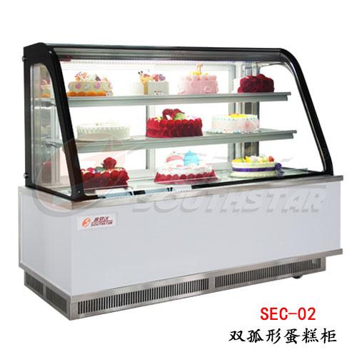 双弧形蛋糕柜SEC-02
